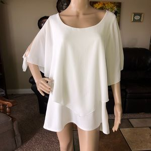 Torrid White Cape Shirt Size 2